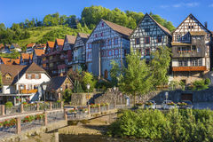 The historic townscape of Schiltach Stock Photography