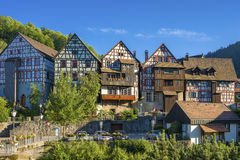 The historic townscape of Schiltach Stock Images