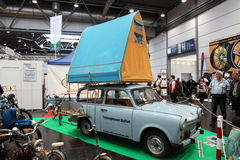 Historic Trabant Camping Car Royalty Free Stock Photos