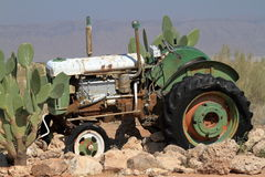 Historic tractors in Namibia Royalty Free Stock Photography