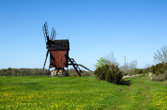 Historic traditional windmill Stock Photo