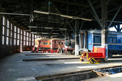 Historic train roundhouse Stock Images