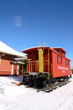 Historic train station. In South Lyon Michigan in winter Royalty Free Stock Photography