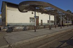 Historic train station in Arica, Chile. Historic railway station in the coastal city of Arica in northern Chile Stock Images