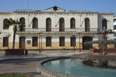 Historic Train Station of Arica. Historic railway station in the coastal city of Arica in northern Chile Stock Images