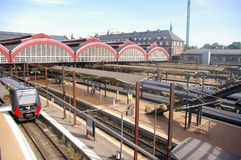 Historic train station of Copenhagen, Denmark Stock Image