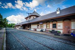 Historic train station, in Laconia, New Hampshire. Stock Images