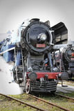 Historic train. Historic steam train locomotive in motion Stock Image