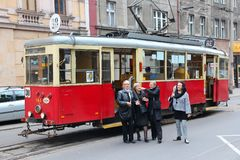 Historic tram in Bytom Stock Image
