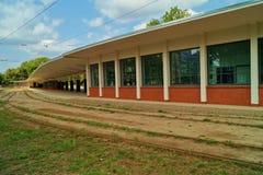 The historic tram depot Royalty Free Stock Photos