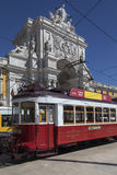 Historic Tram in Lisbon city centre - Portugal Royalty Free Stock Photos