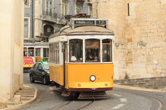 Historic tram in Lisbon Royalty Free Stock Photo