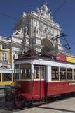 Historic Tram - Lisbon - Portugal stock image
