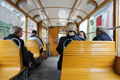 Historic tram in Poland Stock Photos