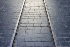 Historic tram rails Stock Images