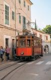 Historic tram in Soller, Majorca Stock Image