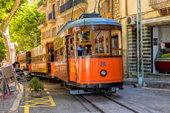 The historic Tram in Soller, Mallorca. Royalty Free Stock Images