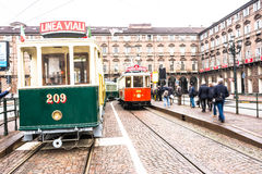 The historic tram in Turin Stock Photography
