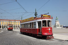 Historic tramway in Lisbon Royalty Free Stock Photography