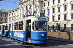 Historic tramway in Munich,  Germany Royalty Free Stock Image