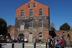 Historic Tredegar Iron Works, Richmond Virginia. Tredegar Iron Works in Richmond, Virginia, United States of America during the American Civil War producing Royalty Free Stock Images
