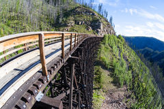 Historic Trestle at Myra Canyon Provincial Park, Canada Stock Images