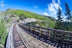 Historic Trestle at Myra Canyon Provincial Park, Canada Royalty Free Stock Image