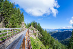 Historic Trestle at Myra Canyon Provincial Park, Canada Royalty Free Stock Images