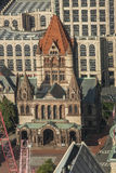 Historic Trinity Church. The historic Trinity Church at Copley square in Boston Massachusetts Stock Photo