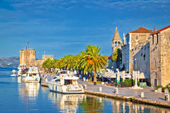 Historic Trogir waterfront architecture view Royalty Free Stock Photography