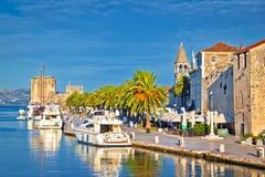 Historic Trogir waterfront architecture view. Dalmatia, Croatia royalty free stock photography