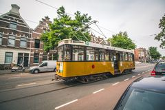 A historic trolley in Rotterdam, Netherlands royalty free stock image