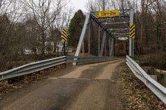 Historic Truss Bridge - Ohio Stock Image