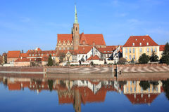 The historic Tumski Island in Wroclaw, Poland Royalty Free Stock Images