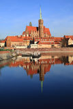 The historic Tumski Island in Wroclaw, Poland Royalty Free Stock Photography