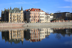 The historic Tumski Island in Wroclaw, Poland Stock Photos