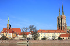 The historic Tumski Island in Wroclaw, Poland Royalty Free Stock Image