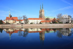 The historic Tumski Island in Wroclaw, Poland Stock Image