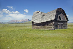 Historic turn of the century barn and deserted ranch in Centennial Valley, MT Royalty Free Stock Photos