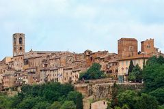 Historic Tuscan town of Colle di Val d'Elsa Stock Photos