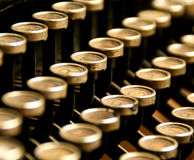 Historic typewriter. A very old historic typewriter royalty free stock image