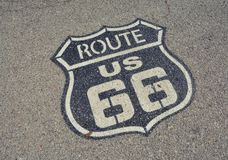 Route 66 sign. Stock Photography