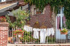 Historic underwear on a clothesline Stock Photography