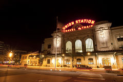Historic Union Station in Denver Colorado Royalty Free Stock Photo