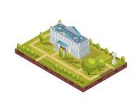 Free Historic University Building Isometric Layout Stock Photo - 92593450