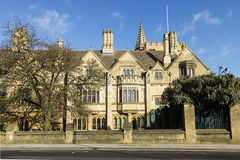 Historic University Building in Oxford City, England Stock Images