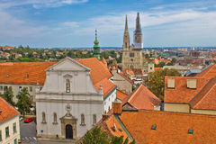 Historic upper town of Zagreb. Capital of Croatia Royalty Free Stock Photo