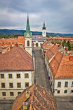 Historic upper town in Zagreb Stock Photo