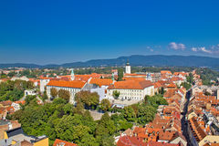 Historic upper town of Zagreb Stock Image