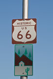 Historic US 66 Sign Stock Image